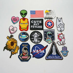 Embroidery-NASA-UFO-Alien-Sew-Iron-On-Patch-Badge-Bag-Hat-Jeans-Fabric-Applique