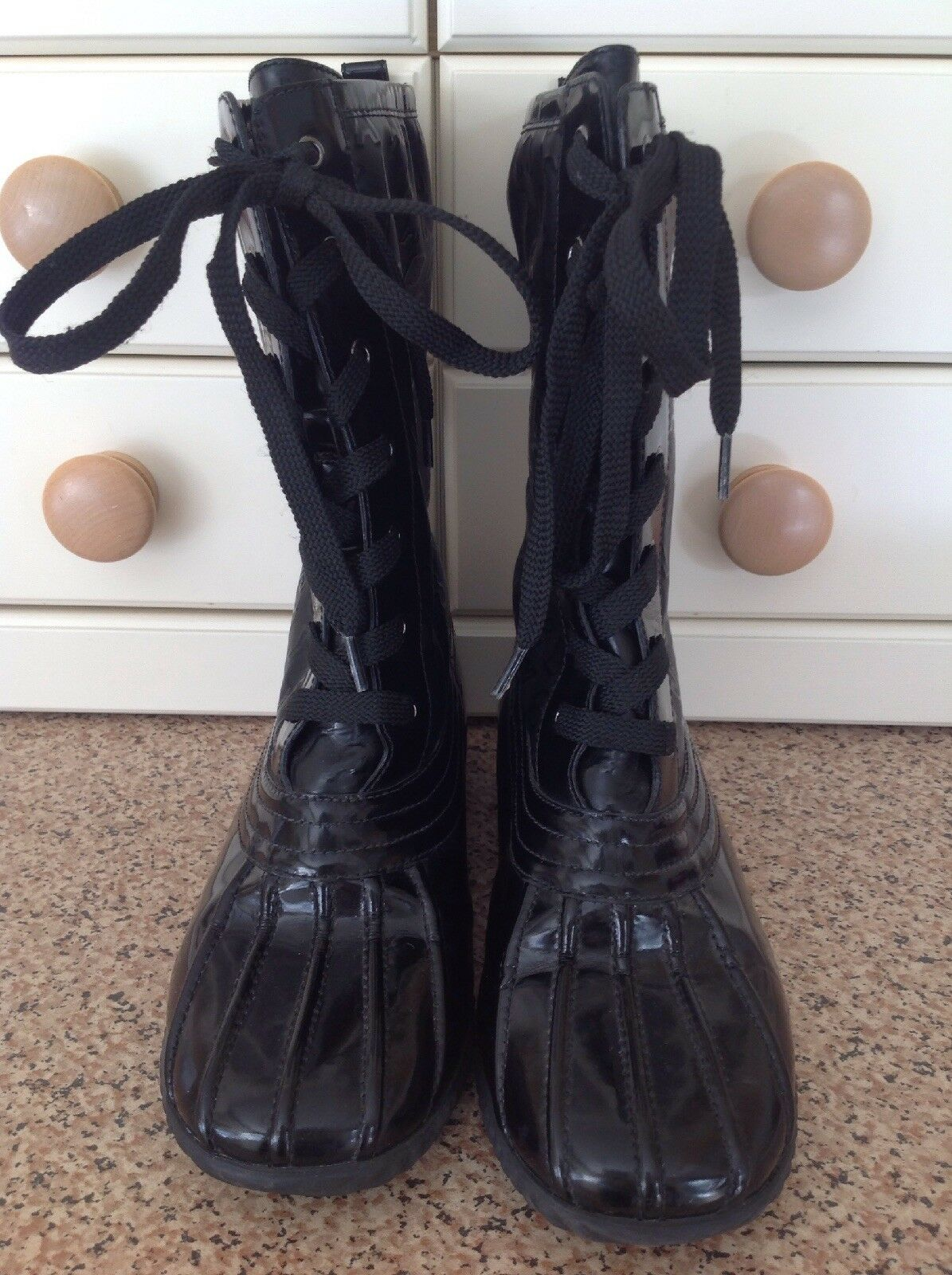 MARC BY MARC JACOBS CALF LENGTH BLACK LACE LACE BLACK UP Stiefel UK SIZE 4.5 BARELY WORN f7a08d