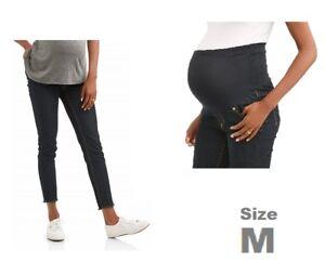 e792e0ef792e3 Image is loading Oh-Mamma-Maternity-Over-Belly-Frayed-Hem-Skinny-