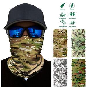 Unisex Camouflage Seamless Face MaskHeadband Scarf Ski Headwear Bandana