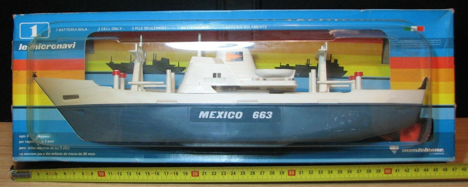 MEXICO 663 - MONTELEONE LIVORNO LE MICRONAVI NEW OLD STOCK SEALED - VINTAGE RARO