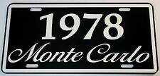 1978 78 MONTE CARLO METAL LICENSE PLATE 350 400 454 SS LOWRIDER NASCAR CHEVY