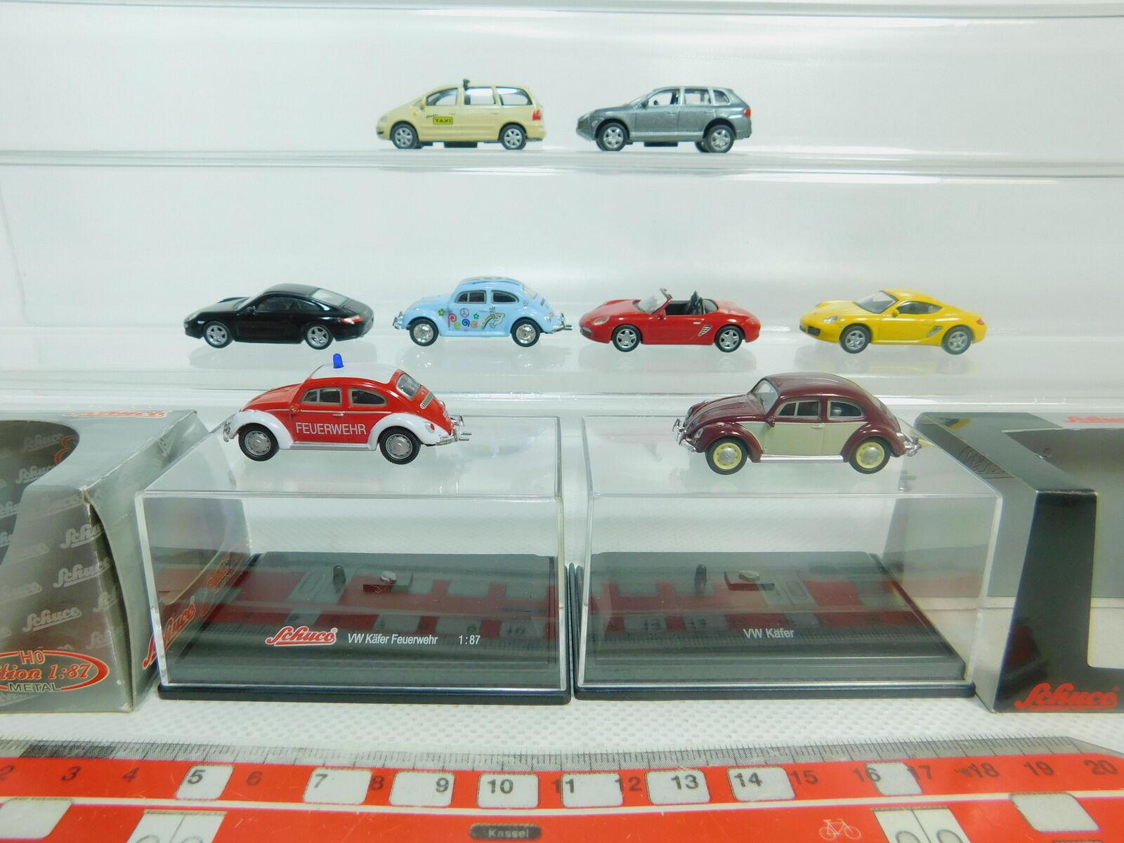 BO887-0,5  8x Schuco H0 1 87 Modell  Porsche  VW Volkswagen Käfer FW  Sharan    Große Ausverkauf