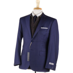 315038e28f9 NWT  1695 CANALI Royal Blue Check Wool Sport Coat Classic 36 S (fits ...