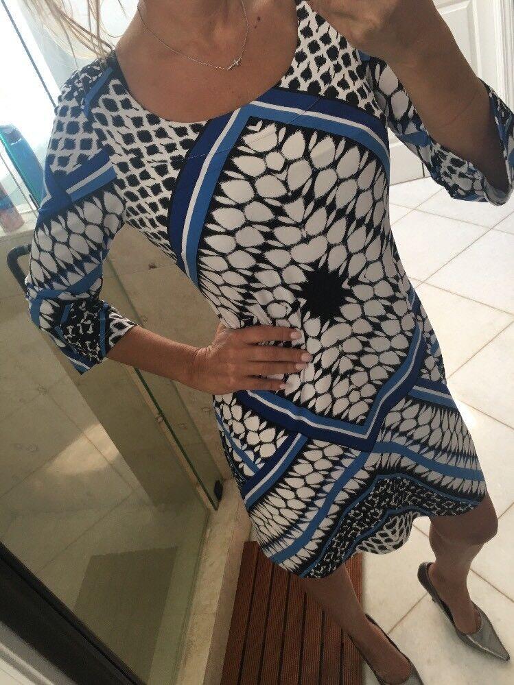 Jessica Simpson Clematis Blau MultiFarbe 3 4 Sleeve Work Cocktail Dress New 6