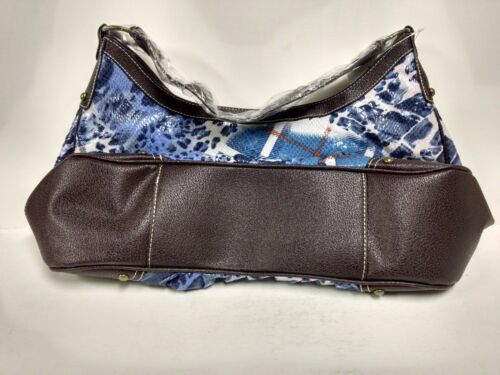 Details about  /New Woman/'s blue multi colored pattern Med Size Fashion Handbag Purse     PRS115