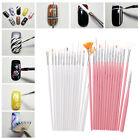 15PCS Nail Art Paint Dot Draw Pen Polish Brush Set for UV Gel DIY Decor Tool New