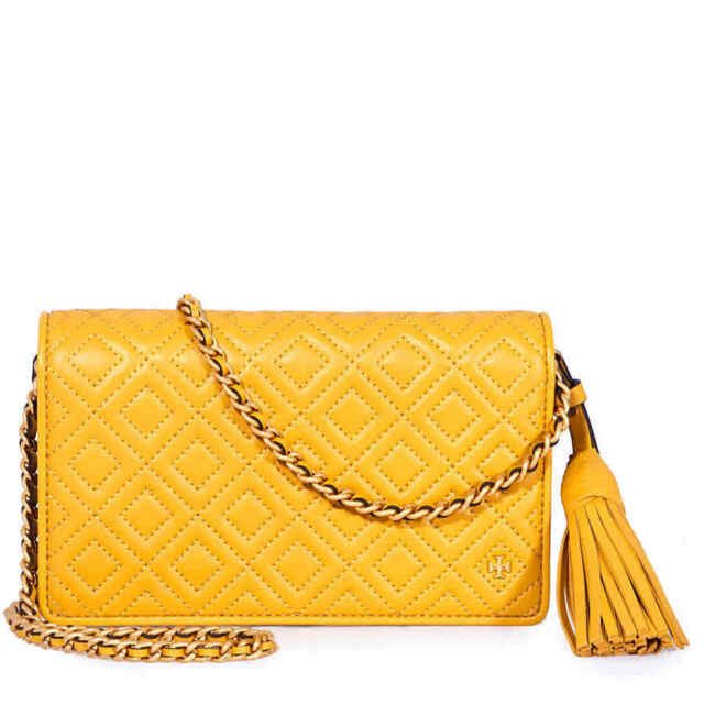 2e0ce98f664 Tory Burch Fleming Daylily Yellow Clutch Wallet Crossbody Bag for ...
