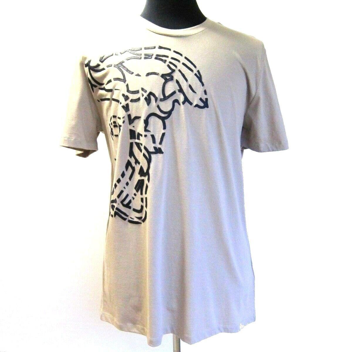 B-463923 Nuovo Versace Collection Marronee Logo Design T-Shirt Manica Corta