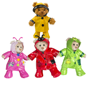 RAINCOAT-OUTFIT-FITS-8-inch-20cm-TEDDY-BEAR-CLOTHES-red-pink-green-yellow