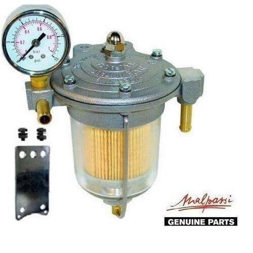 Malpassi Filter King 85mm Kraftstoffdruckregler Glasschale +Anzeige Kit