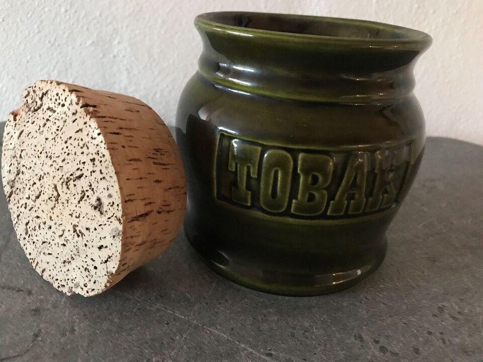 Andre samleobjekter, Ældre tobakskrukke m. låg (retro)