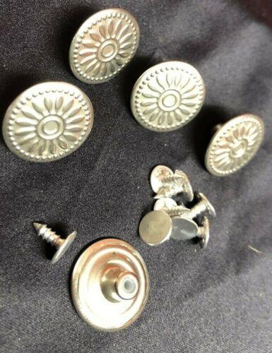 10 Jeansknöpfe Metallknopf Hose Knopf Messing silber 20mm rostfrei design