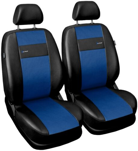 Front seat covers fit Volvo XC60 black//blue  Leatherette