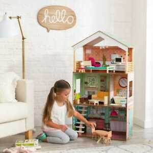 KidKraft-Vintage-Luxe-Dottie-Dollhouse-4-Feet-Tall-GallyHo