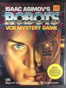 Isaac-Asimov-ROBOTS-VCR-Mystery-Game-1988-Kodak-Collectable-VHS-Vintage