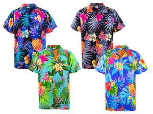 Funky Hawaiian Shirt Pineapple Short Sleeve Different Colors