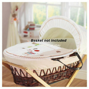 NEW-4-Piece-Lollipop-Lane-Herbs-Garden-Replacement-Moses-Basket-Dressing-Covers
