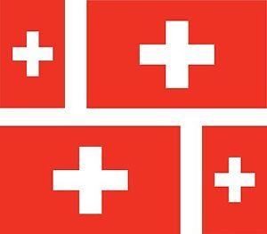 4x-sticker-Adesivo-Adesivi-decal-decals-Vinyl-auto-moto-bandiera-svizzera-swiss