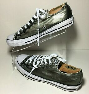 Details about Converse CTAS Chuck Taylor All Star Metallic Sneaker OX Herbal Men's 9 Womens 11