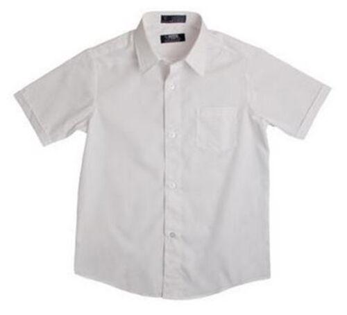 New FRENCH TOAST School Uniforms Boys Sz 4 Short Sleeve DRESS SHIRT White