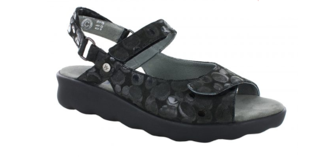 Wolky Pichu Circles nero Comfort Ankle Strap Sandal Wouomo Dimensiones 36-42 5-11NEW
