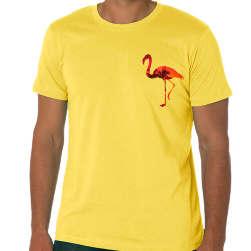 FLAMINGO Retro Pocket T-shirt Florida Style Short Sleeve Tee Size S XXL