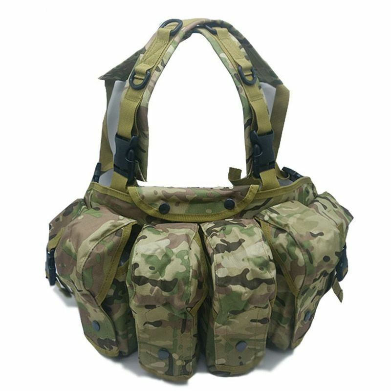 Hunting Vest Military Tactical Army Airsoft Ammo Chest Rig AK 47 Combat Molle