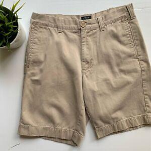 J-CREW-GRAMERCY-Khaki-Shorts-Chinos-Flat-Front-Men-039-s-29-EUC