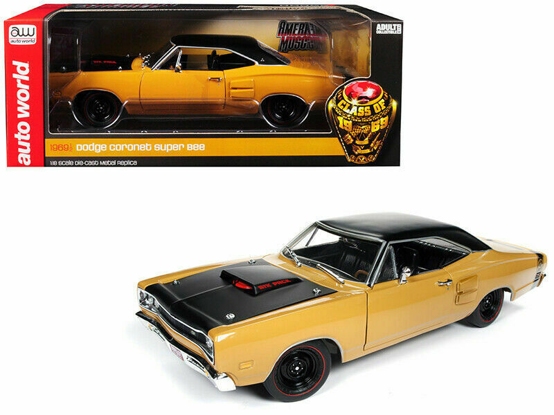 Auto World 1 18 American Muscle Class of 1969 Dodge Cgoldnet Super Bee AMM1172