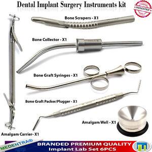 6-PCS-Sinus-Lift-Implant-Bone-Surgery-Scraper-Collector-Bone-Carrier-Gun-Well-CE