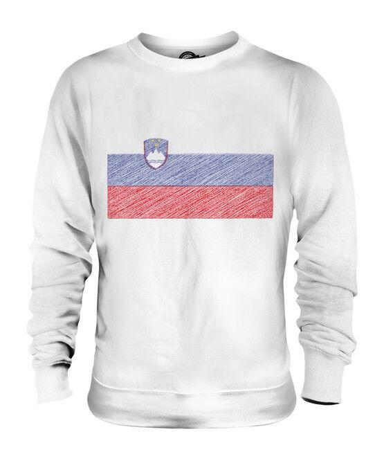 SLOVENIA SCRIBBLE FLAG UNISEX SWEATER  TOP GIFT SLOVENIJA SLOVENIAN