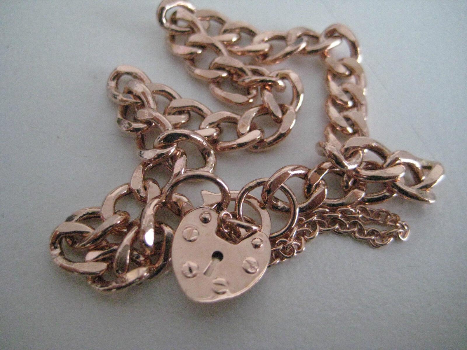 VITE A Bracciale con Charm in oro oro rosa 9 9 9 KT DESIGN Vite Cuore 8d8d56
