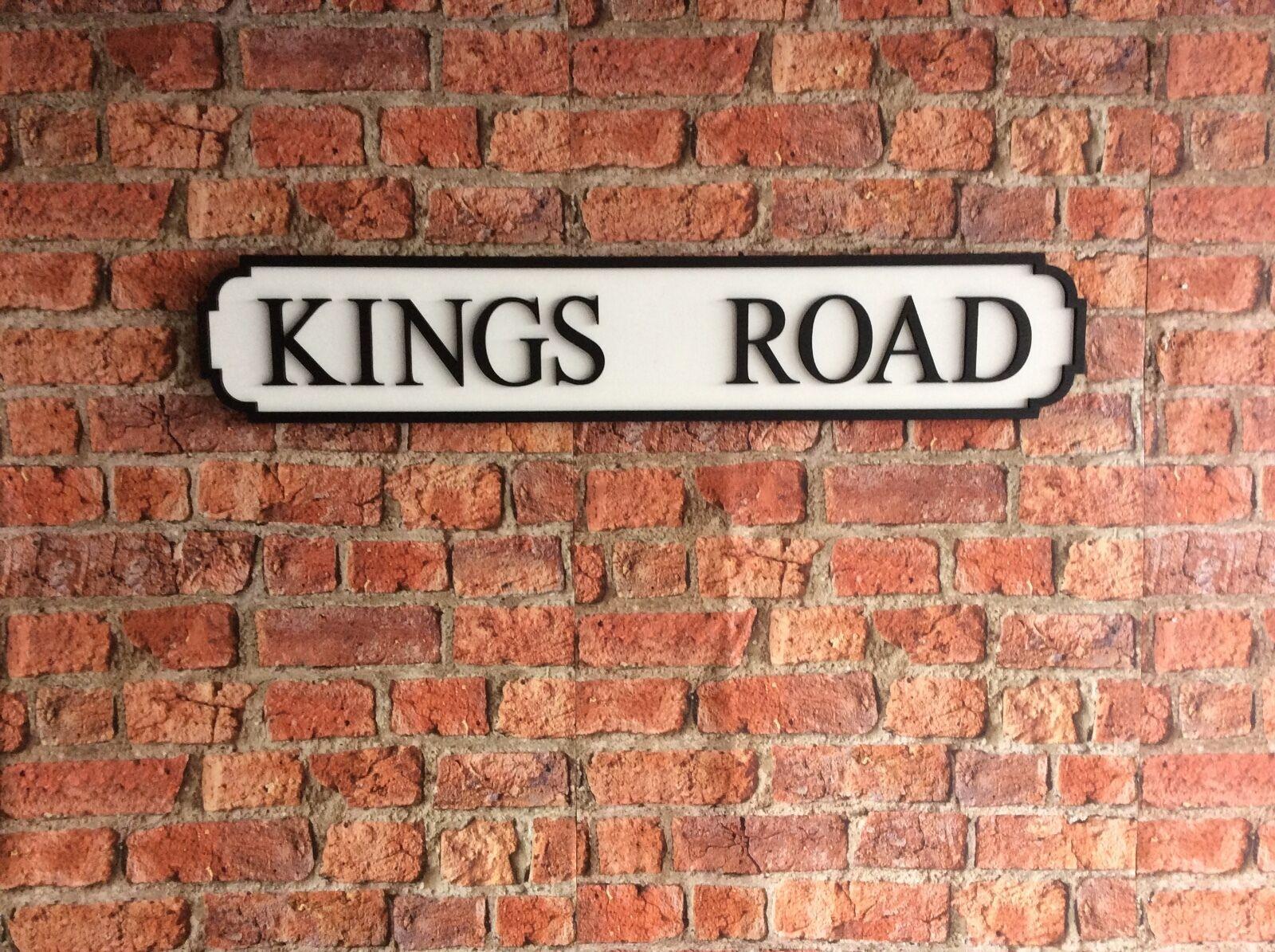 Vintage Wood Street Road Sign KINGS ROAD