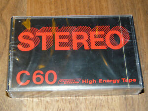 STEREO C60 Leerkassette Musikkassette neu in Folie, vintage audio tape