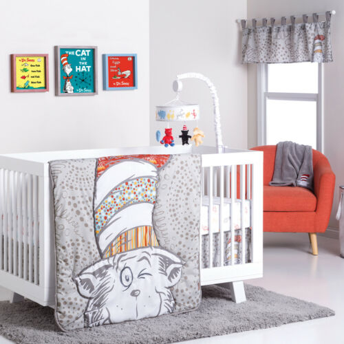 Trend Lab Dr Seuss Peek-a-Boo Cat Baby Nursery Crib Bedding CHOOSE 4 5 6 PC Set