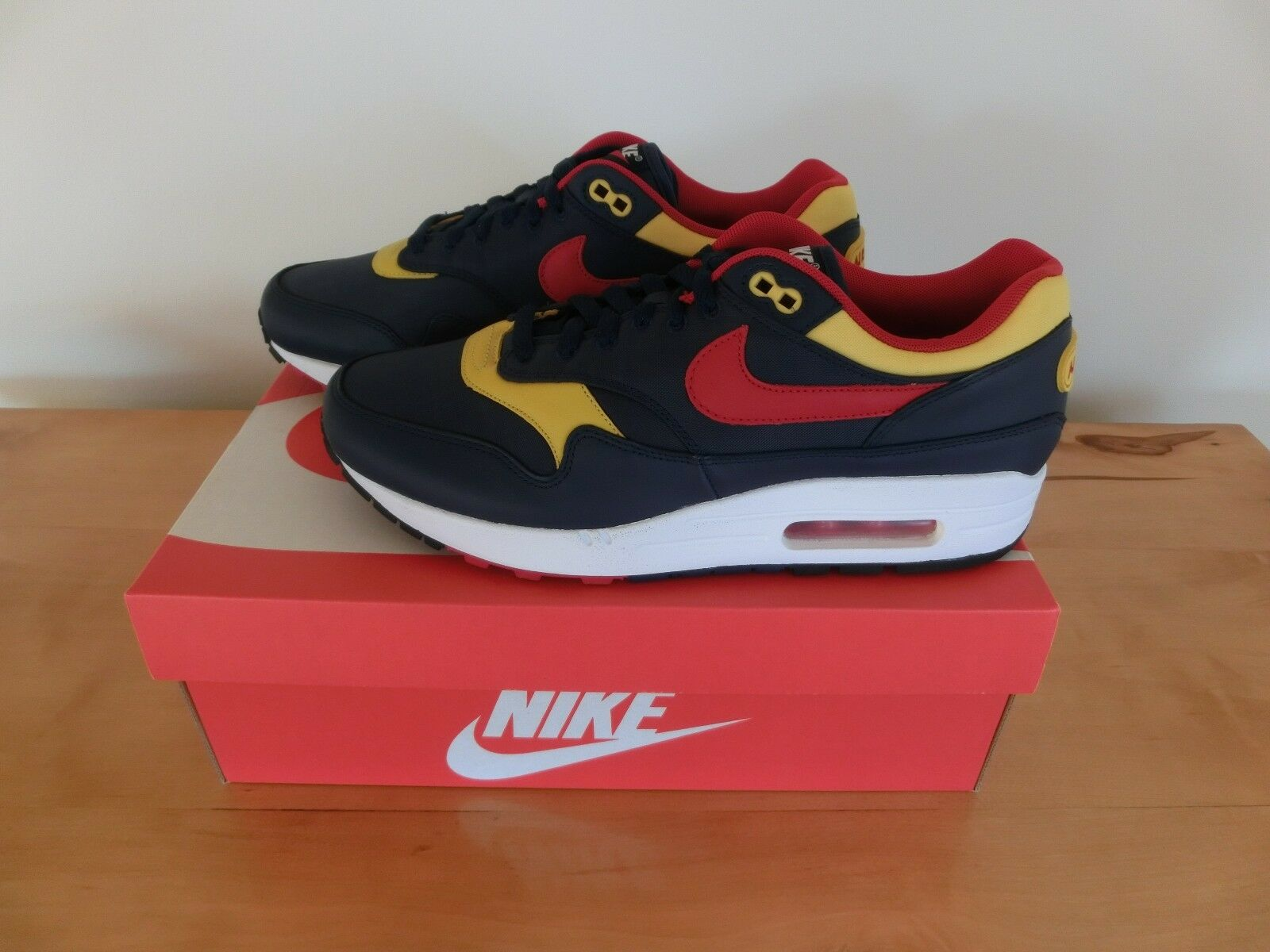 Nike Air Max 1 Premium 'Logo Pack' EUR 43 Navy/ROT UK 8.5 US 9.5 Navy/ROT 43 Neu & OVP 162229