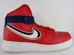 Men-039-s-Air-Force-1-High-039-07-LV8-Sneakers-806403-603-Size-10-5-Red-White-Blue