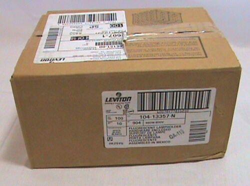 100 each Leviton 104-13357 N Bi-Pin Plastic Flourescent Lamp Holder 660W 600V