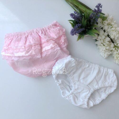 Baby Mädchen Kleinkind Rüschen Spitze Slip Neugeborenes Hochzeit Tauffeier
