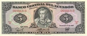 Billet Banque Equateur Ecuador 5 Sucres 22-11-1988 Neuf Unc Zrpw6ckb-07224811-911239989