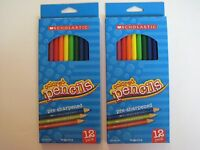 Brand Scholastic Pre-sharpened Colored Pencils (2 Packs Of 12 = 24 Pencils)