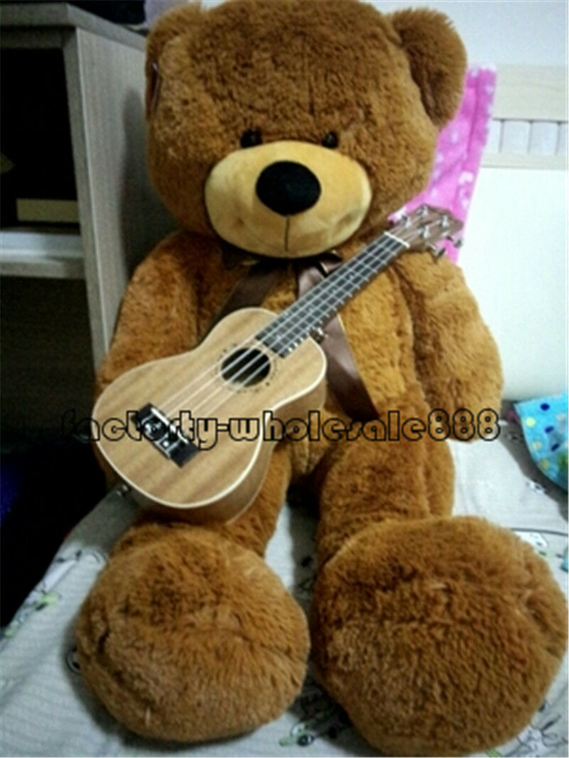 Giant 55  Big Teddy Bear Plush Toys Doll Soft Stuffed Animal Birthday Gift marrone