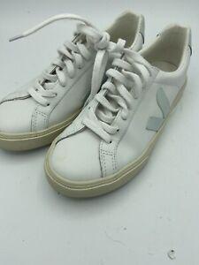 Veja Esplar leather white/pale blue
