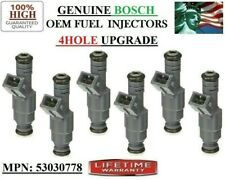 6X Upgraded Genuine Bosch 4 Hole Fuel Injectors for Dodge Jeep 4.0L