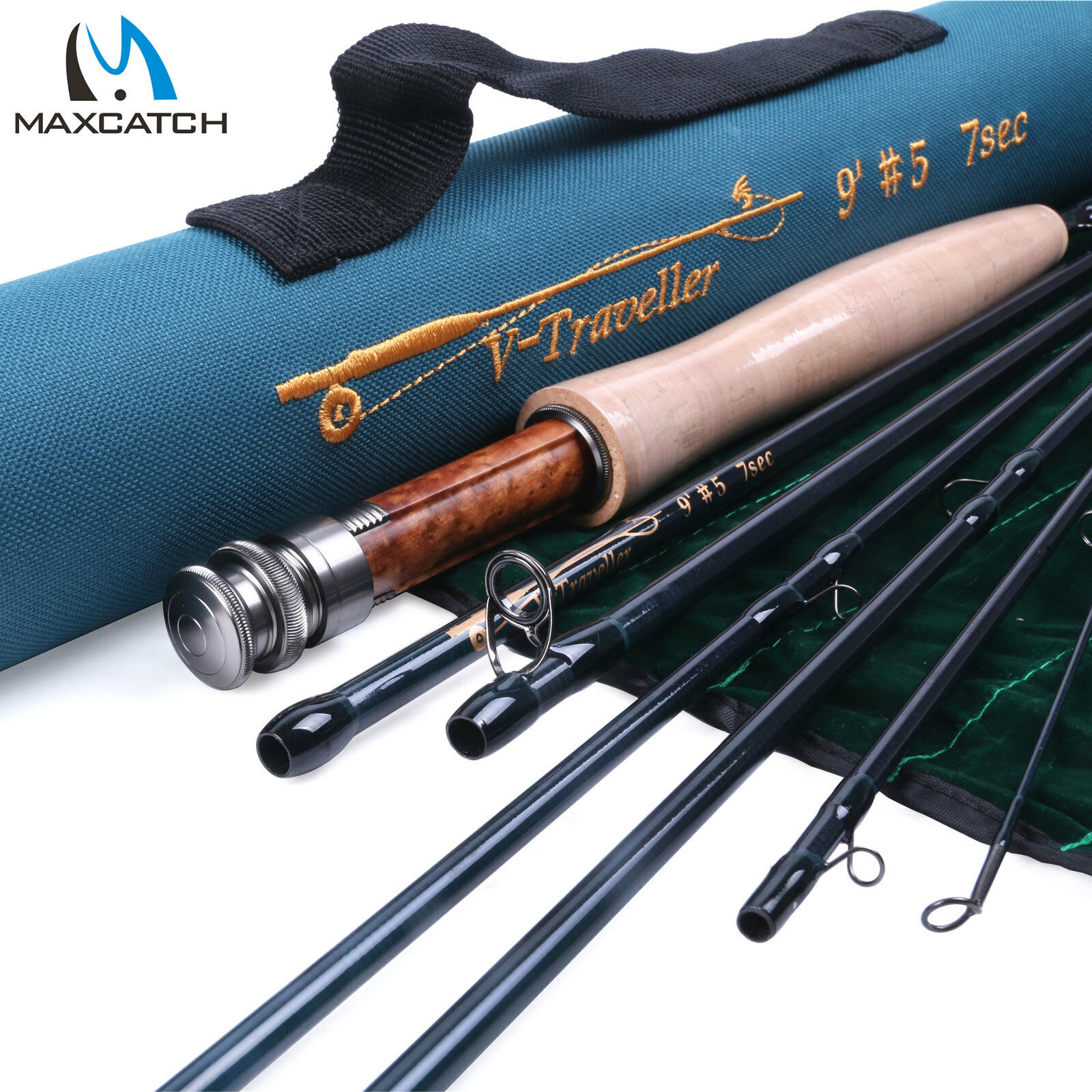 Maxcatch Traveler  Rod 4 5 6 7 8 9wt 9ft 7pcs IM10 Carbon fiber Fly Fishing Rod  shop makes buying and selling