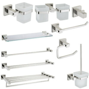 Sus304 Stainless Steel Wall Mounted Square Brushed Nickel Bathroom
