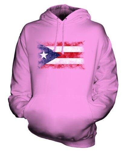 PUERTO RICO DISTRESSED FLAG UNISEX HOODIE TOP PUERTO RICAN FOOTBALL GIFT
