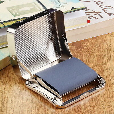 Metal Automatic Cigarette Tobacco Roller Roll Rolling Machine Box Case Tin FE