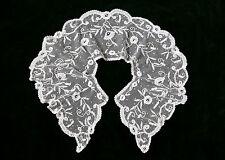 Hauchzarter großer Jugendstil Spitzen-Kragen Antik Florentiner Tüll Frankreich